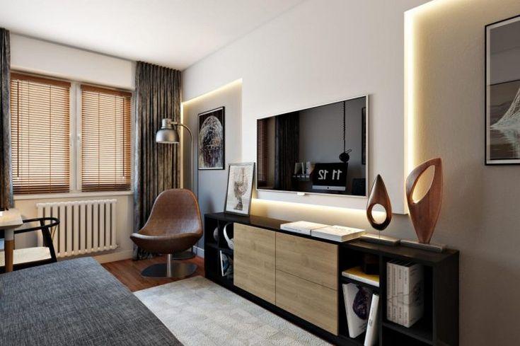 Egy egyedülálló férfi másfél szobás otthona, 45m2 modern, elegáns, otthonos berendezéssel