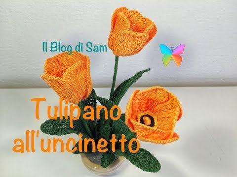 Spiegazione del Tulipano all'uncinetto - YouTube
