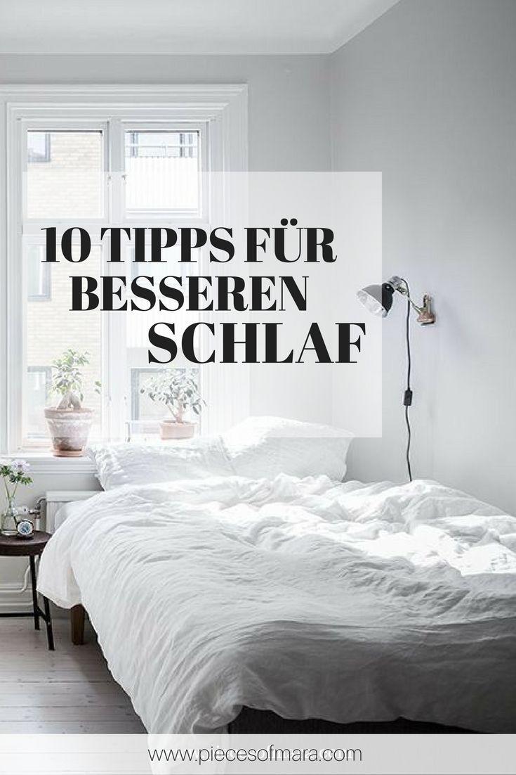 Wie ich es schaffe durchzuschlafen bzw. wie sich mein Schlaf verbessert hat. 10 Tipps für besseren Schlaf. Ganz einfach und wertvoll.  Mehr auf www.piecesofmara.com