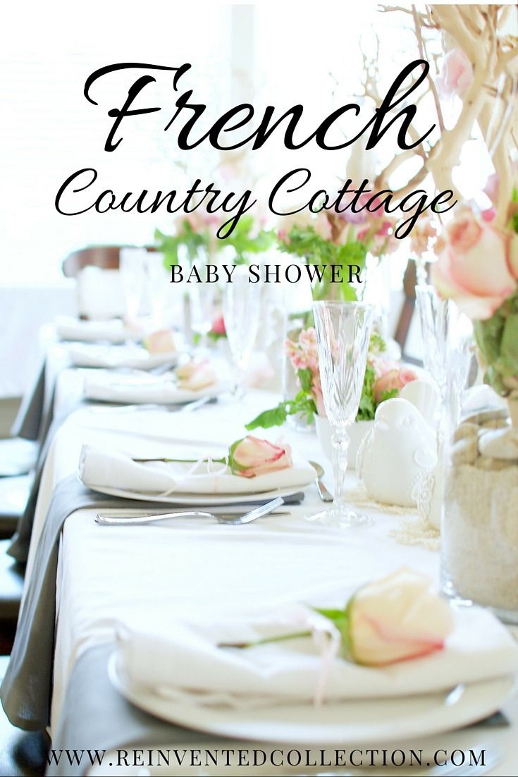 french country baby shower
