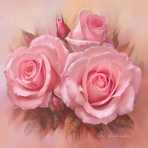 ~ painting of pink roses                                                                                                                                                     More