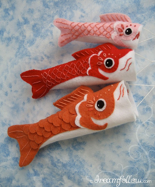 Koinobori or Japanese carp flags. Traditionally flown on Children's Day