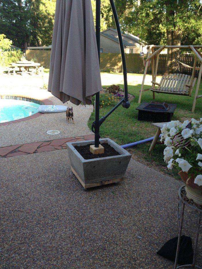how to build a patio umbrella stand