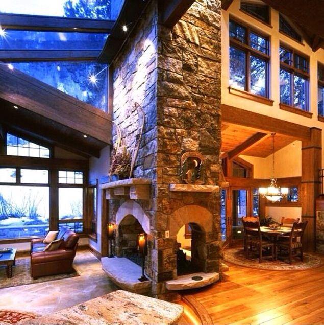 17 Best Ideas About Fireplace Between Windows On Pinterest