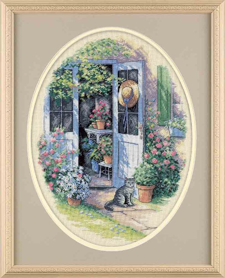 Garden Door/ counted cross stitch kit? $24.99...   I ordered this, but haven't started it yet.