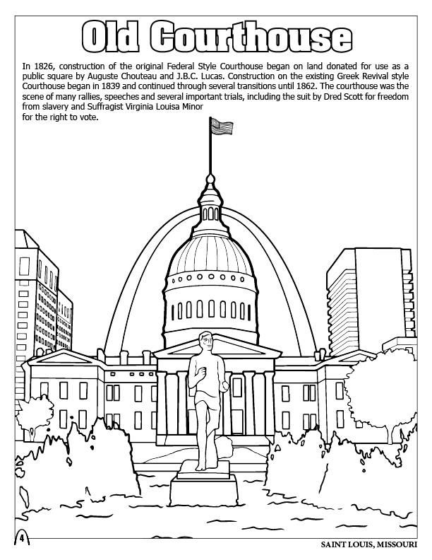 St Louis Coloring Pages Coloring Pages St Louis Color