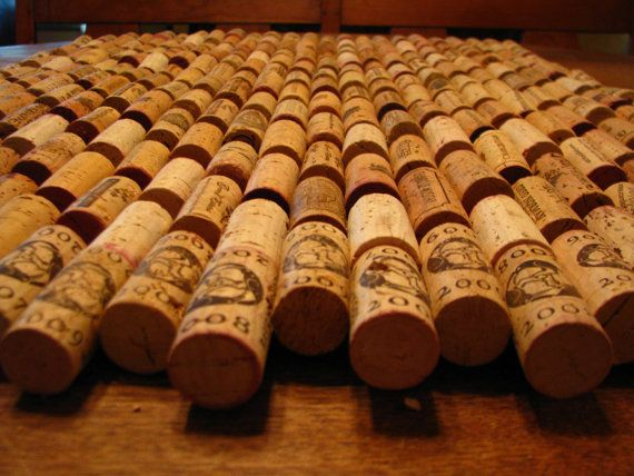 recycled wine cork mat