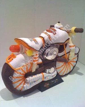 Harley Davidson Diaper Cake - 9990221 - Baby Boy - Diaper Cakes - by Babyfavorsandgifts by leanna