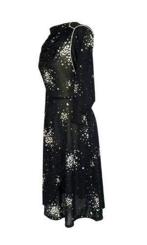 Vintage 70s zwart witte jurk maat 40 M. Tante Twiggy Shop <3 www.marktplaats.nl/verkopers/20281615.html retro kleedje dress black white seventies