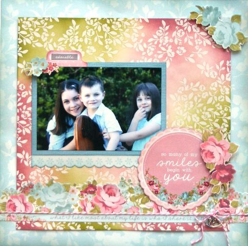 Family page created with KaiserCraft, Secret Garden collection by Teena Hopkins for My Scrappin' Shop.