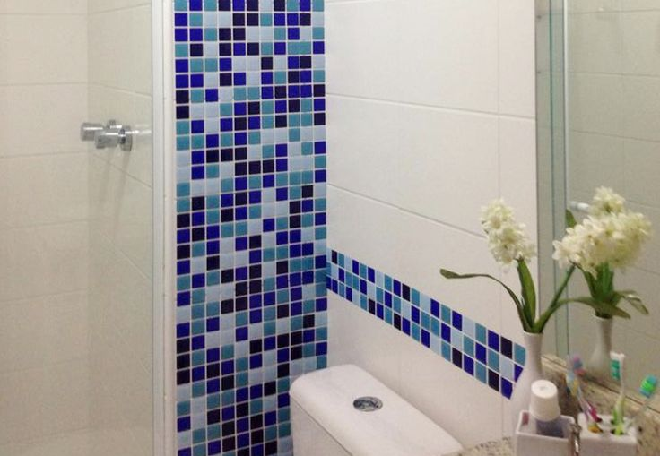 Pastilha Resinada Adesiva Faça você mesmo! Decore e mude os ambientes!  Pastilha azul -  Banheiro - Cozinha - Lavanderia