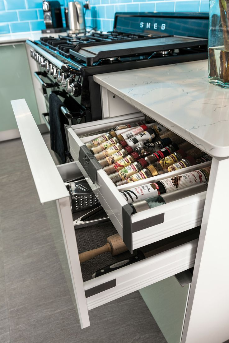 """Customers Dave and Deb found a bonus in their new kitchen -""""The way the cupboard drawers have a hidden drawer. These are fantastic as they give us so much more room to play with."""""""