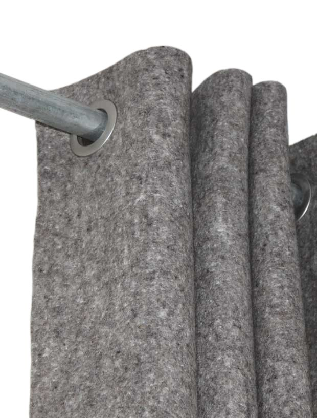 Curtains Wool Felt (incl. rings)