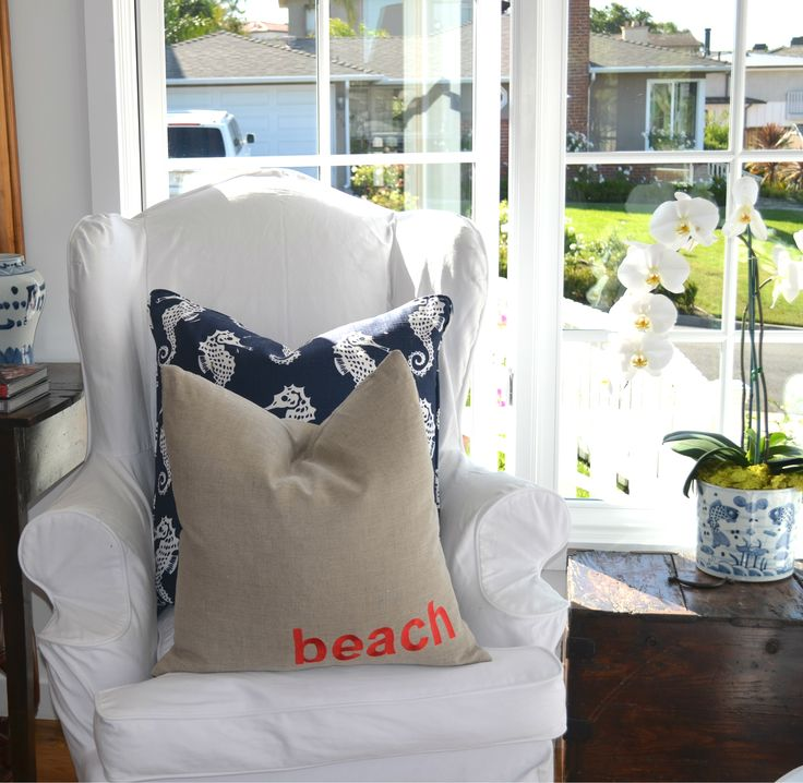 custom beach pillows coastal beachhouse beach house decor