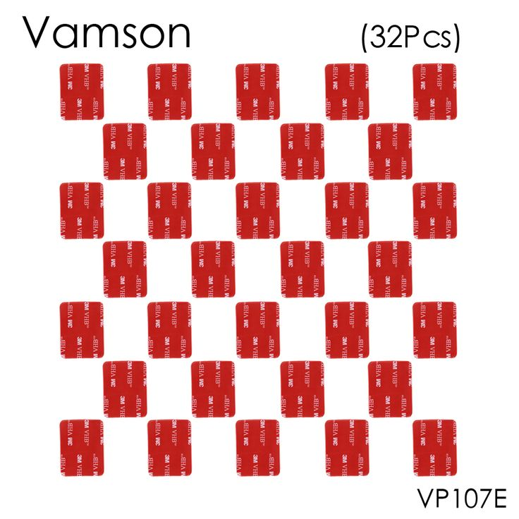 Vamson 32pcs Red 3M VHB Adhesive Sticker Flat Double Side Adhesive Tape For Gopro hero 5 4 3+ 2 SJ4000 Helmet Mount VP107E