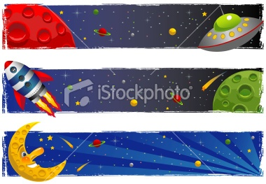 Space Scene Banners Royalty Free Stock Vector Art Illustration