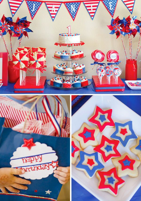 Janie's 1st birthday party made it on Hostess with the Mostess!  Woo hoo!!! 4th of July birthday party