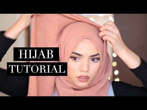 EASY HIJAB TUTORIALS (no pins!) - YouTube