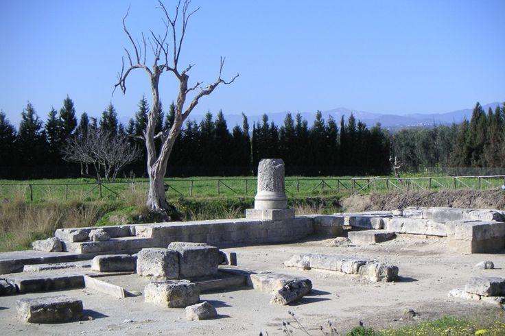 Temple of Marasà. Archaeological Site of Locri Epizefiri. Locri (Reggio Calabria). Calabria. Italy.