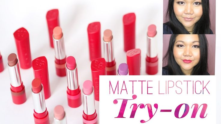 "Rimmel ""The Only 1 Matte"" Lipstick Try-On Swatches 