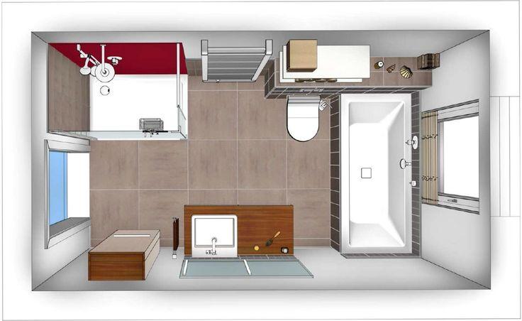badezimmer grundrisse modern - Today Pin