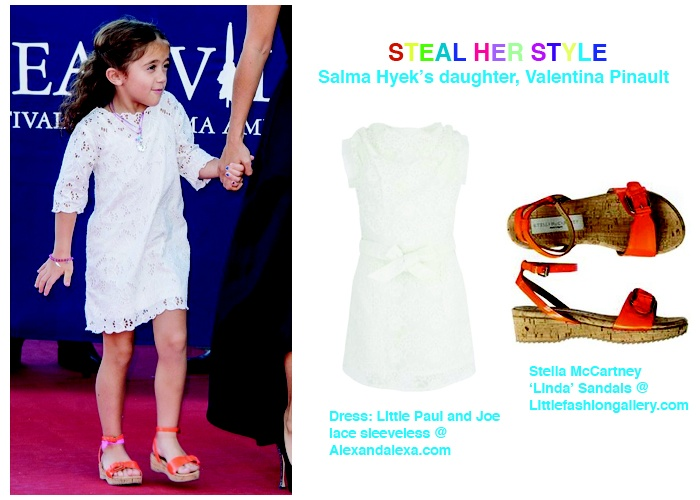 Steal Her Style: Salma Hayek's Daughter Valentina Pinault | MiniHipster.com :::: kids street fashion & children's clothing trends / kidswear & childrenswear / childrens fashion & kids clothing trends