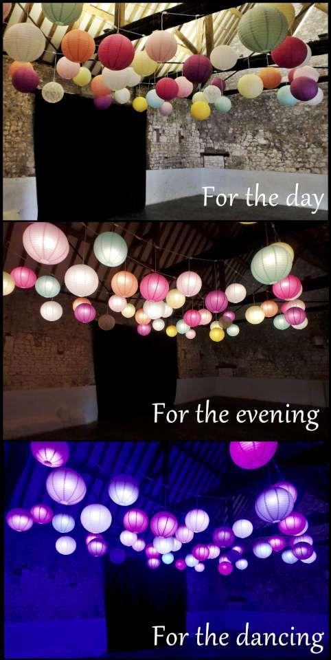 Oakwood Events disco lantern canopy - for beautiful versatile wedding lighting!