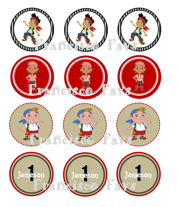 Jake & The Neverland Pirate Party Cupcake Toppers - DIY (Digital Copy). $3.00, via Etsy.