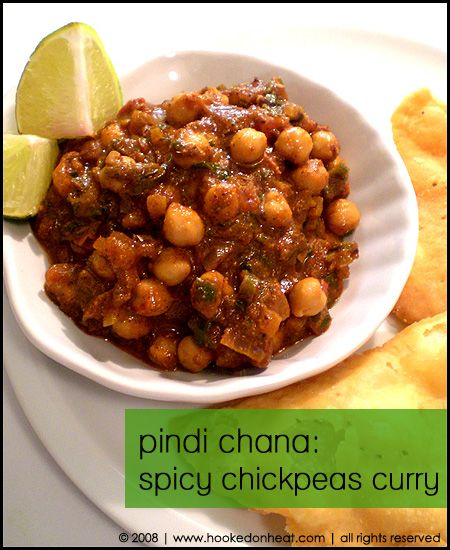 Pindi Chana - spicy chickpea curry