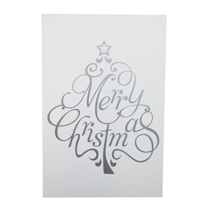 Bekijk de foto van Welke_Redactie met als titel Haal de kerstsfeer in huis met dit mooie handgeschilderde mat-witte bord met daarop een zilverkleurige kerstboom met de tekst 'Merry Christmas'. Het bord is aan de achterkant voorzien van een haakje zodat je 'm eenvoudig op kunt hangen. Natuurlijk kun je dit bord met het formaat 40 x 60 cm ook prima neerzetten op een dressoir of fotoplank.  en andere inspirerende plaatjes op Welke.nl.