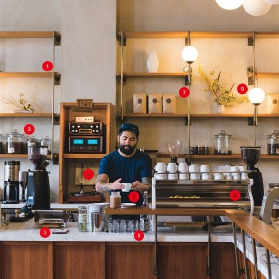 Oversize couches and eclectic mugs are for the Central Perks of yesteryear. Today's coffee bars are