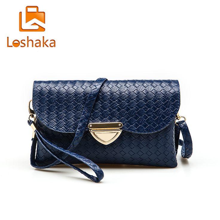 93ae8a1c0150 LOSHAKA Women Messenger Bags Solid Knitting Handbags High Quality PU  Leather Day Clutch Casual Lady Flap. Clutch CasualWomens Messenger  BagShoulder ...