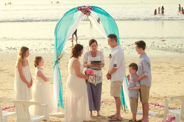 Simple family beach wedding  http://www.balibrides.com.au/bali-wedding-packages