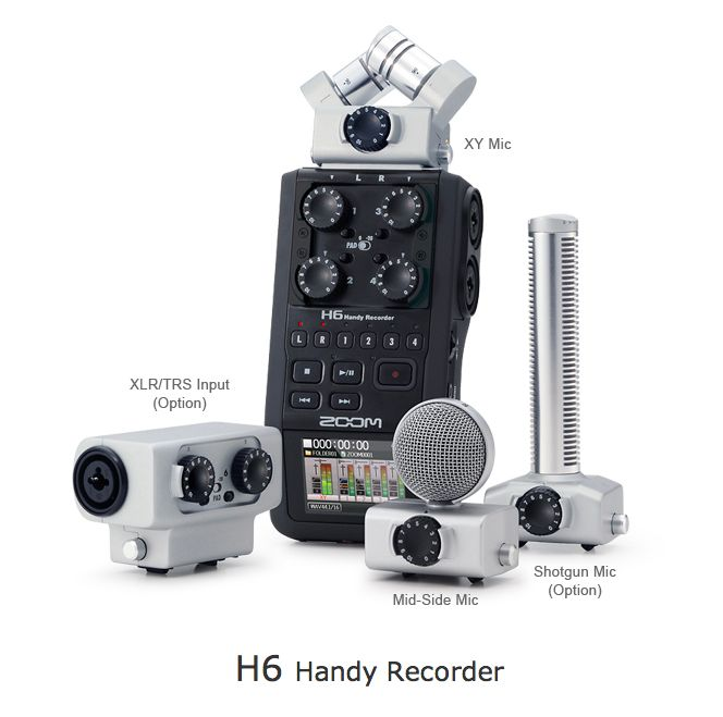 The new Zoom H6 recorder.  Ab fab.  LOVE it.