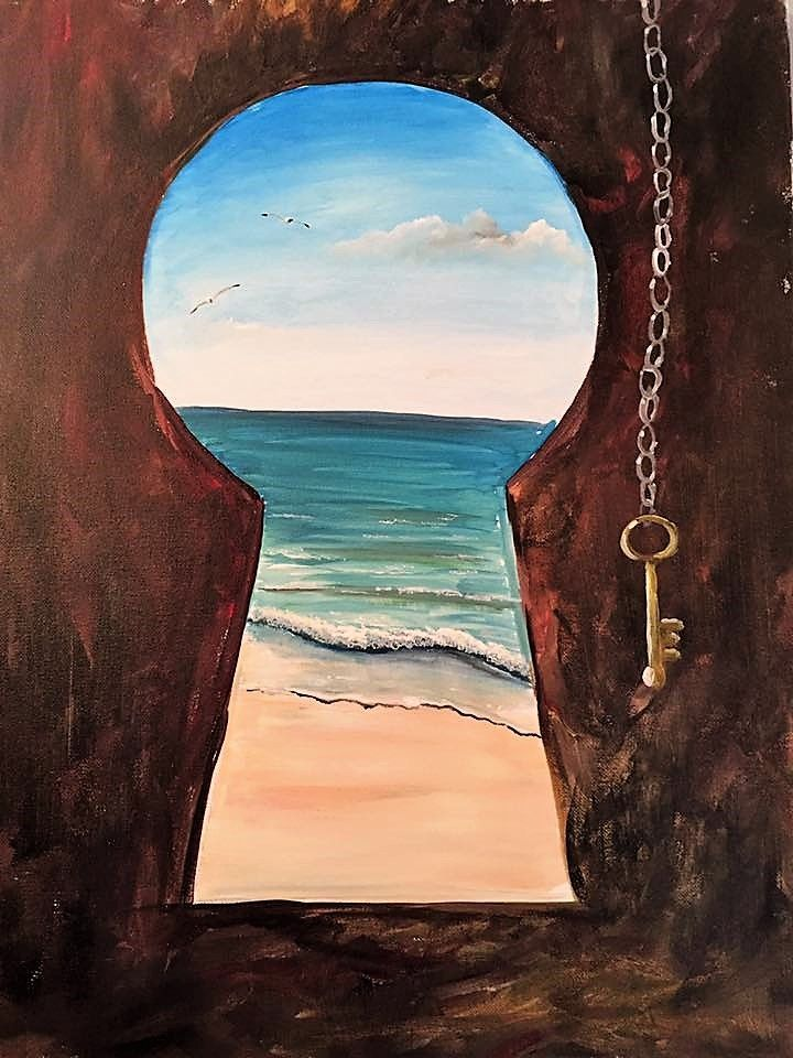Fall 2017 Lookbook Key To The Beach Paint Nite Painting Canvas