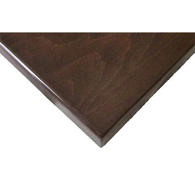 """UV3636-WAL Oak Street - Table Top, square, 36"""" x 36"""", 1-1/2"""" thick, UV coated (indoor only), walnut finish"""