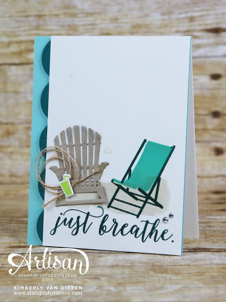 Sometimes we need to be reminded to just breathe. Everything works out. I love this new stamp set Colorful Seasons and the greeting! Just breathe.