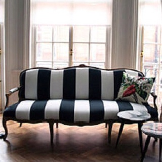 I love a nautical theme and just realized how well it works on a couch, too!
