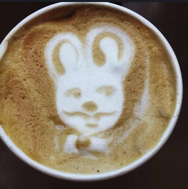 Created by skilled barista at Pan Kralicek. Latte art perfection. #PanKralicek #coffee #latteart #tricycle