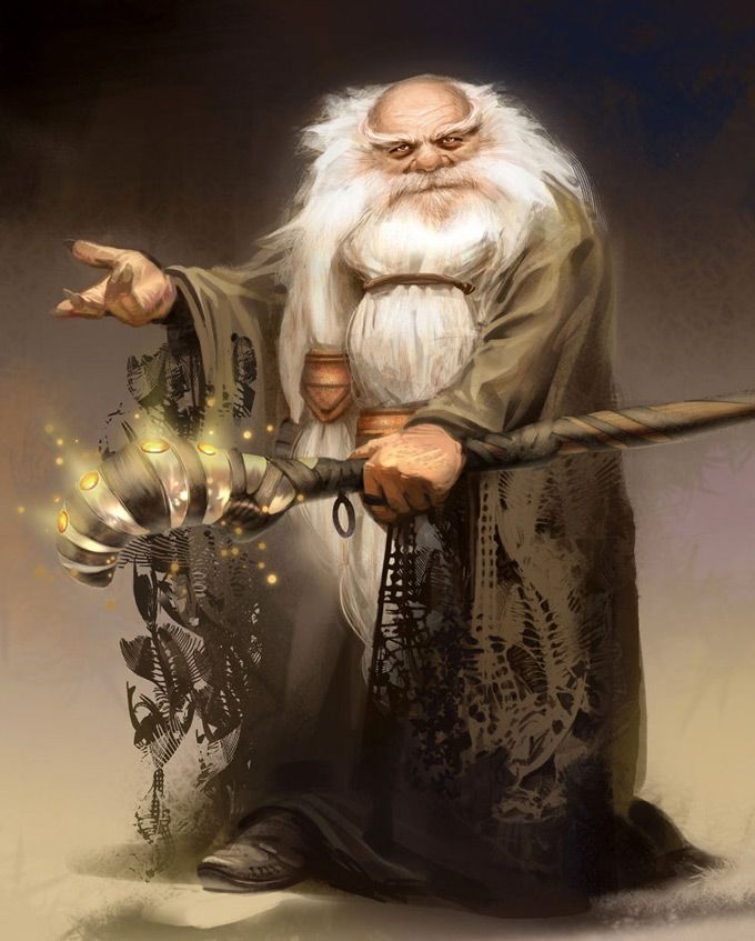 Elder dwarf mage | West Studio Concept Art and Illustration