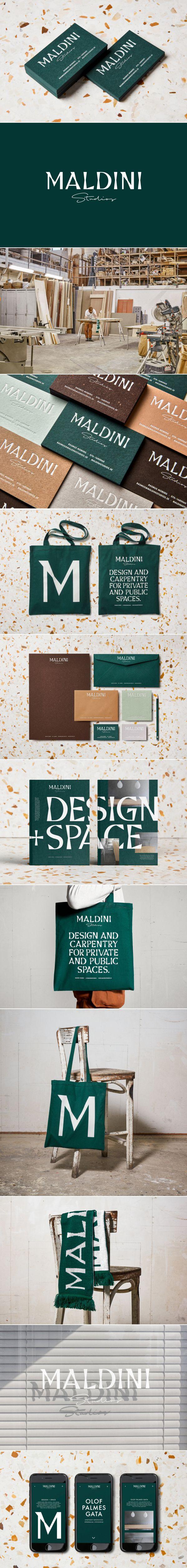 New Graphic Identity for Maldini Studios by Jens Nilsson
