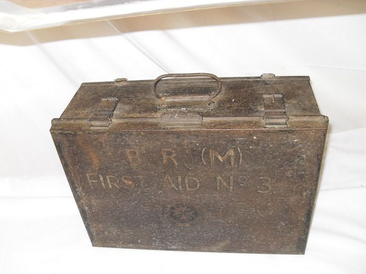 Vintage British Rail First Aid Box with contents  | eBay