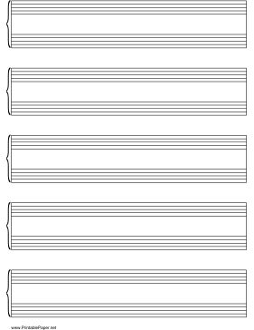 Printables of music paper, graph paper, and nearly every kind of paper you can think of
