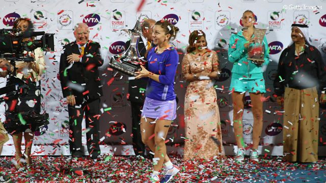 And now Simona Halep, a former No.2, is the 15th Dubai Duty Free Tennis Championships champion.