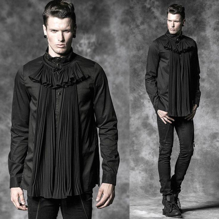 PUNK RAVE My Kingdom Come Gothic Shirt Rüschenhemd GOTHIC HEMD VIKTORIANISCH