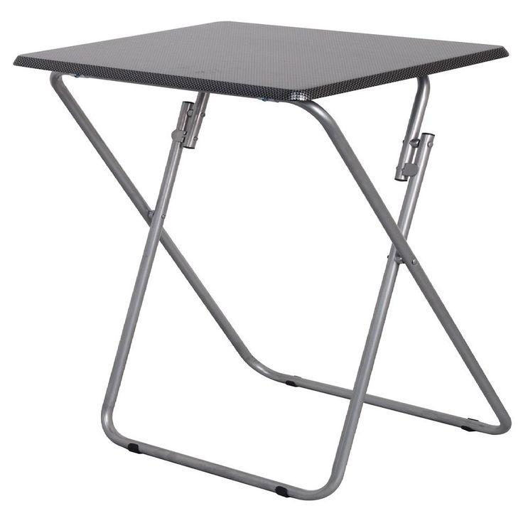 Heels Above Jumbo Folding Utilty Table, Grey metal