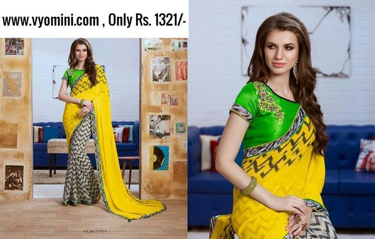 #VYOMINI - #printedsaree #FashionForTheBeautifulIndianGirl #MakeInIndia #OnlineShopping #Discounts #Women #Style #EthnicWear #OOTD #PrintedSaree #Onlinestores Only Rs 1676/-, get Rs 355/- #CashBack,   ☎+91-9810188757 / +91-9811438585