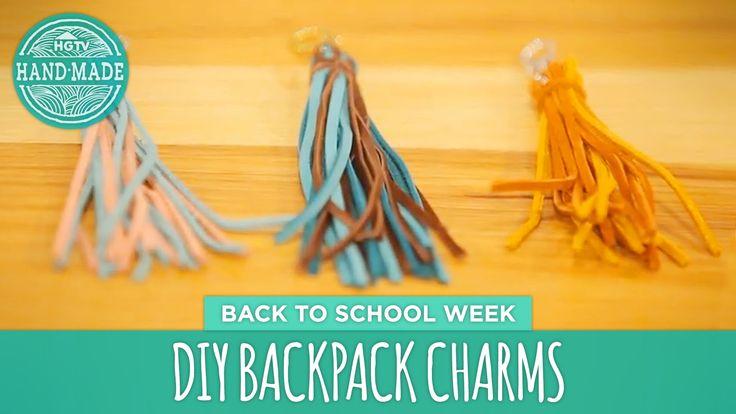 DIY Backpack Charms - Back to School Week - HGTV Handmade