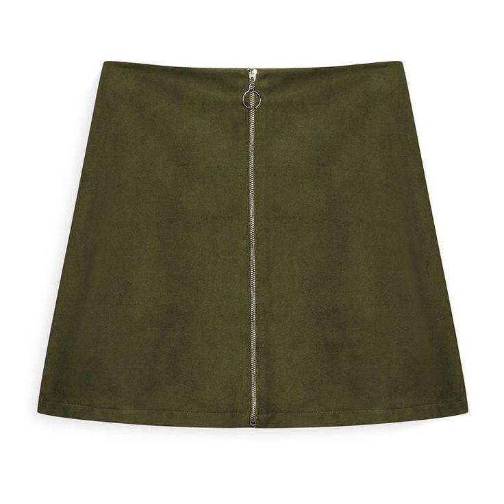 Falda con cremallera color caqui  Categoría:#faldas #primark_mujer #ropa_de_mujer en #PRIMARK #PRIMANIA #primarkespaña  Más detalles en: http://ift.tt/2CbQOEE