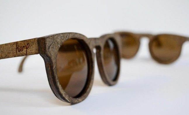 Sunglasses made from hemp
